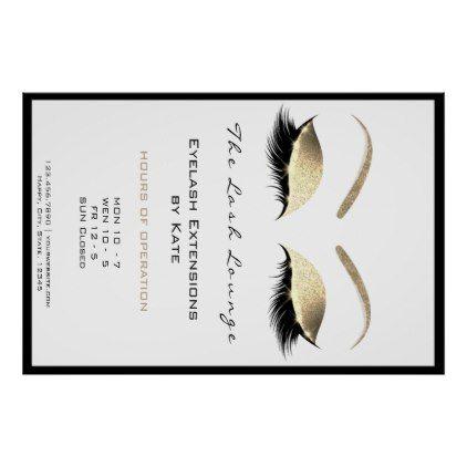 Makeup Beauty Salon Name Gold Glam Adress Opening Poster Zazzle Com Gold Glam Beauty Salon Beauty Salon Names