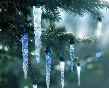 4m 20 Led Solar Dripping Icicle Lights Grabone Store Mobile Christmas Lights Holiday Time Christmas Decorations