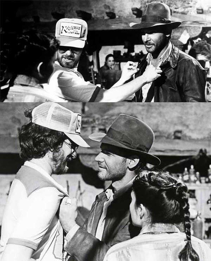 History Of Cinema On Instagram Steven Spielberg Vs Harrison Ford Behind The Scenes Of Indiana Jones Raiders Of The Lost Ark Cine Indiana Jones Filmografia