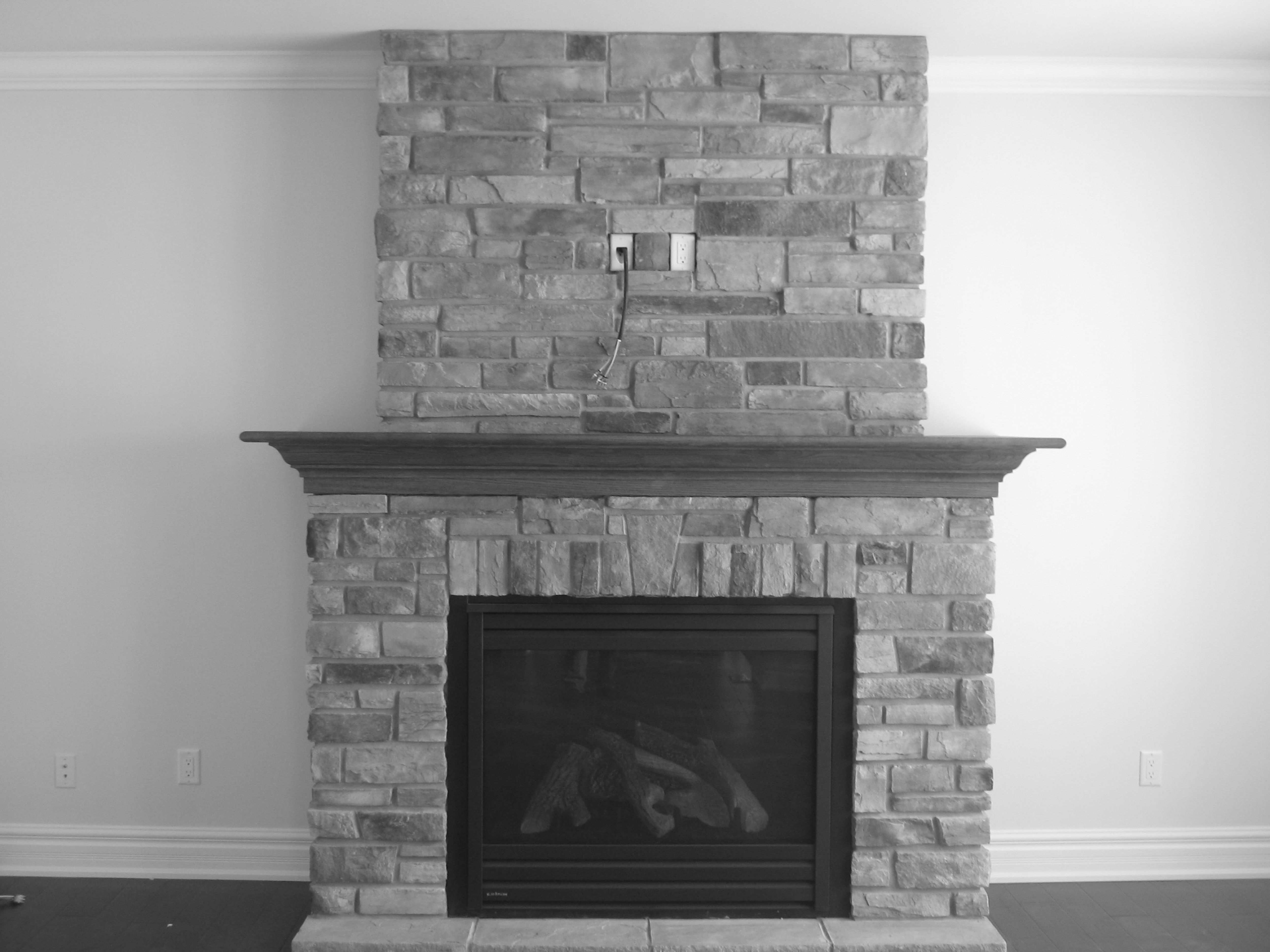 Interior Cultured Stone Fireplace Designs Wall Texture