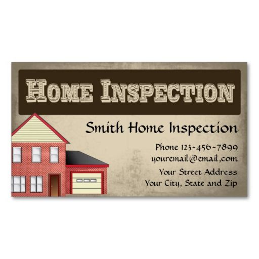 Home Inspection Inspector Business Card Zazzle Co Uk Home Inspection Business Card Design Business