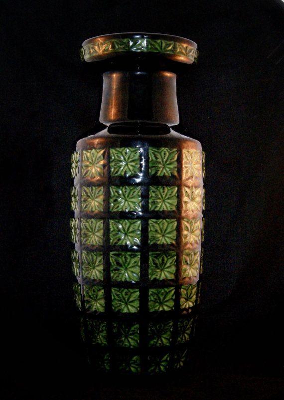vase de sol ouest allemand de scheurich prisma 261 42 scheurich pinterest. Black Bedroom Furniture Sets. Home Design Ideas