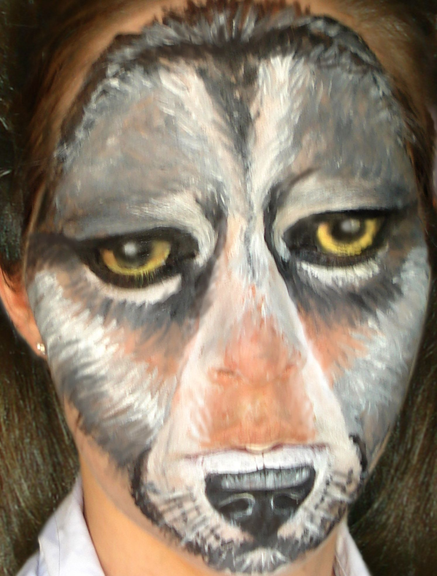 Wolf face painting ideas
