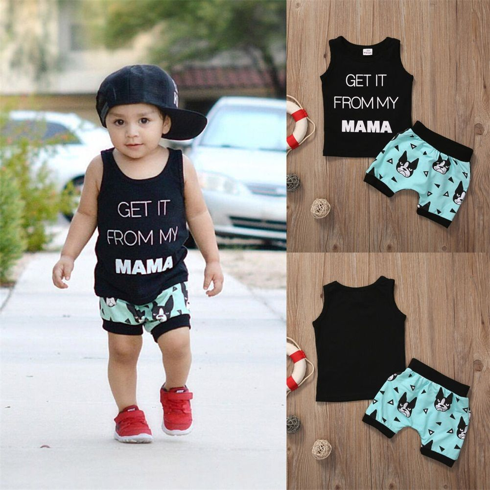 2Pcs Toddler Kids Boys Crocodile T-shirt Tops+Shorts Pants Outfits Clothing Sets