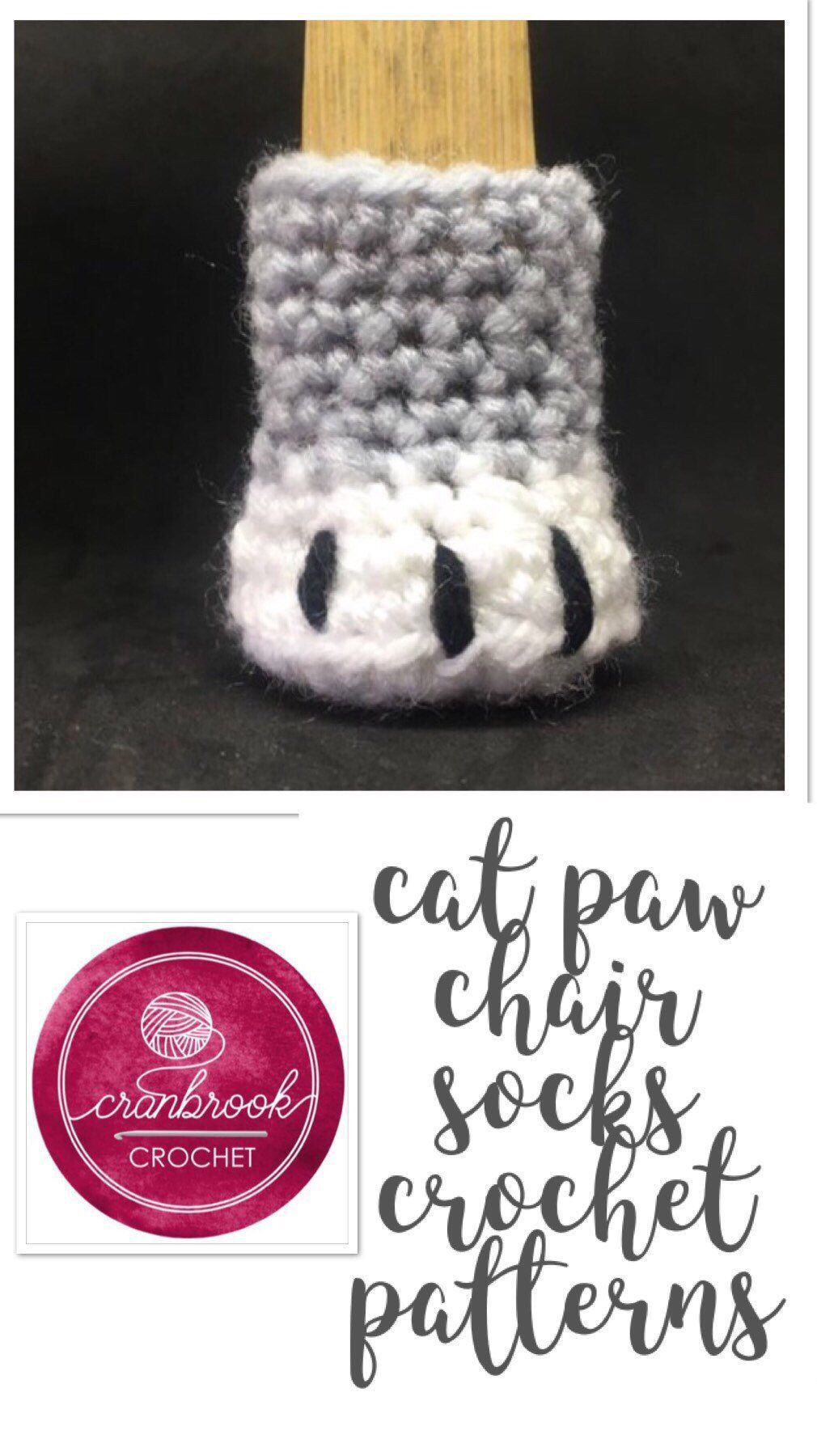 Cat Paw Chair Sock Crochet Pattern Crochet cat toys