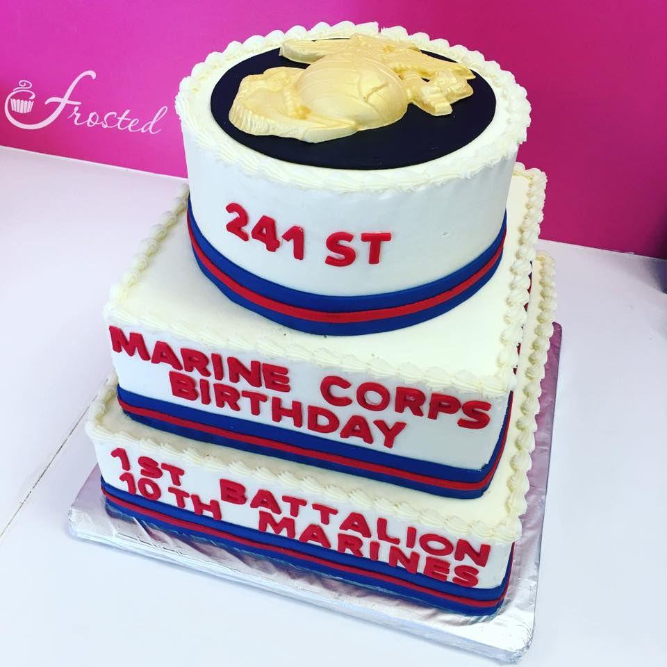 United States Marine Corps Birthday Ball Cake Military Cake Usmc Birthday Party Cakes