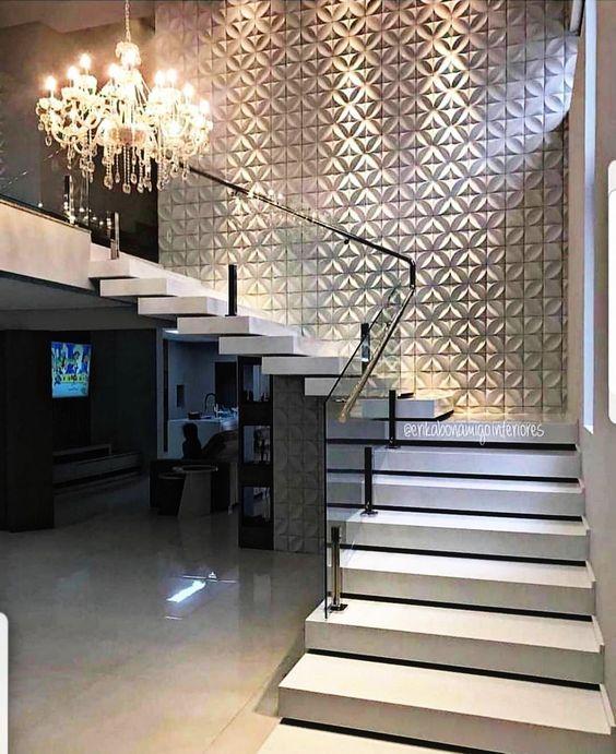 31 Stair Decor Ideas To Make Your Hallway Look Amazing: Revestimiento De Paredes Con Paneles Decorativos En 2020