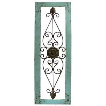 Turquoise Framed Metal Wall Decor Hobby Lobby 437897 In 2020 Metal Wall Decor Wall Decor Online Tuscan Wall Decor
