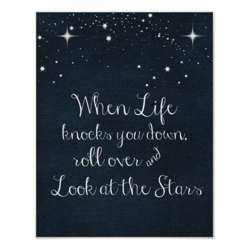 Inspirational Quote: When Life Knocks you Down Poster | Zazzle.com