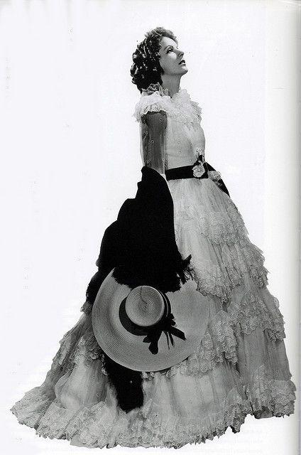 "Greta Garbo in costume for ""Camille"", 1936-desing Adrian"