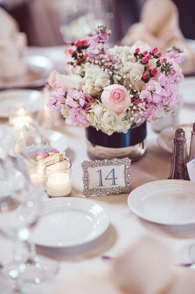 Elegant indiana ballroom wedding pink