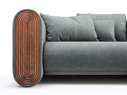 Sofa arm detail