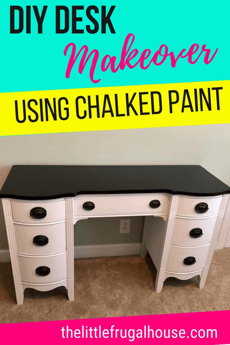 Diy Desk Makeover How To Paint A Desk Diy Furniture Painting Ideas Painting A Desk Diy Desk Makeover Diy Desk Makeover
