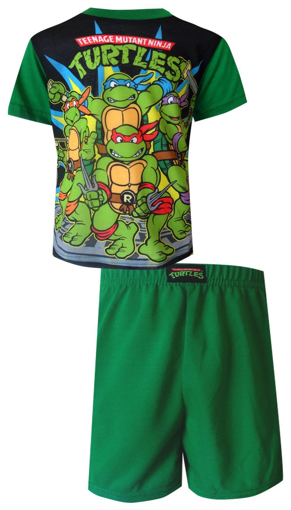 48c5a9ec415 Teenage Mutant Ninja Turtle Gang Green Toddler Pajama Wow