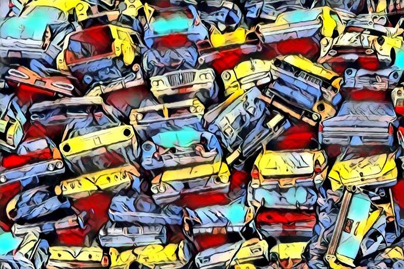 JUNKYARD CLASSIC CARS – DIGITAL ART IMAGE