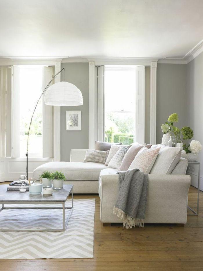 1001 ideas sobre decoracin saln gris y blanco Pinterest