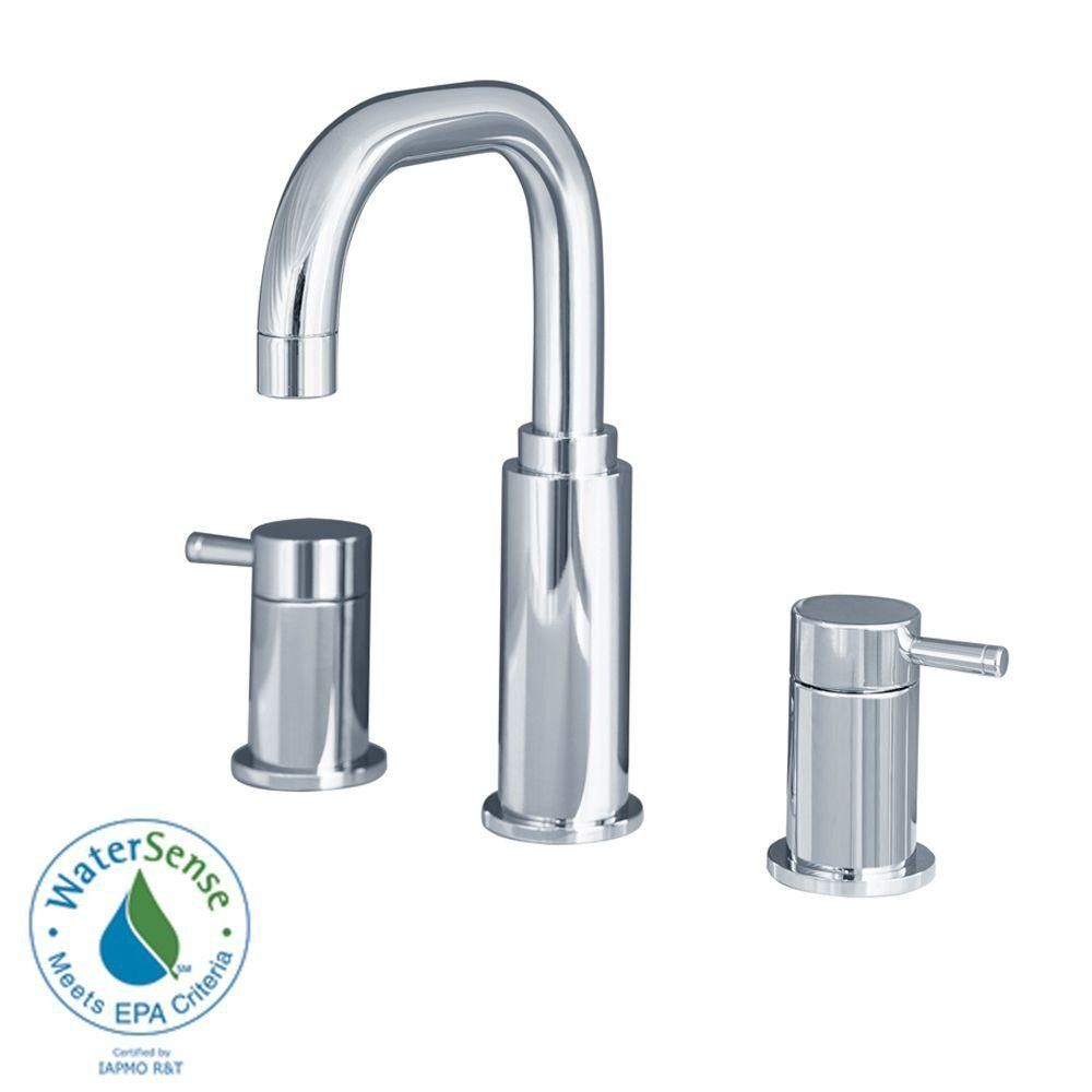 American Standard 2064 801 002 Serin 8 In Widespread 2 Handle High Arc Bathroom Faucet In Polished Chrome
