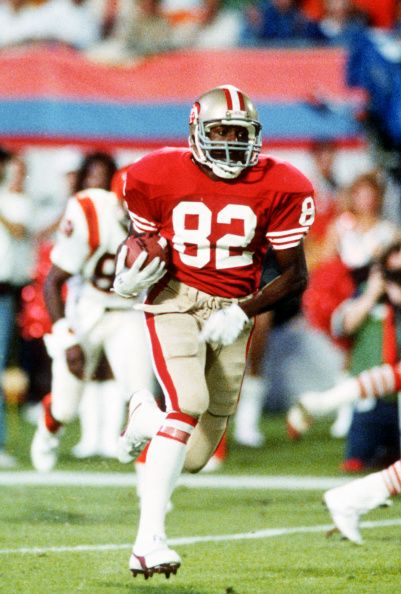 73994f0c13b John Taylor of the San Francisco 49ers runs with the ball against the  Cincinnati Bengals during Super Bowl XXIII on January 22 1989