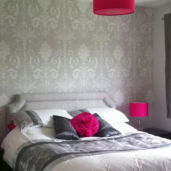 Grey Amp Fuchsia For The Bedroom Oh So Tempting That Or