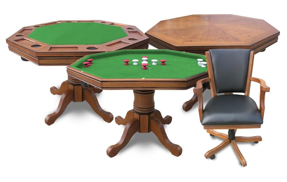 Harvil 3 In 1 Poker Table With 4 Chairs 3n1oak Bumper Pool Table Poker Table And Chairs Poker Table
