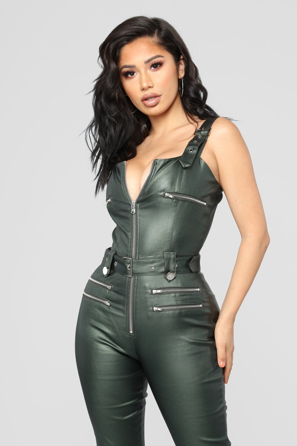 9770865c38fd Hunt You Down Overall Jumpsuit - Hunter