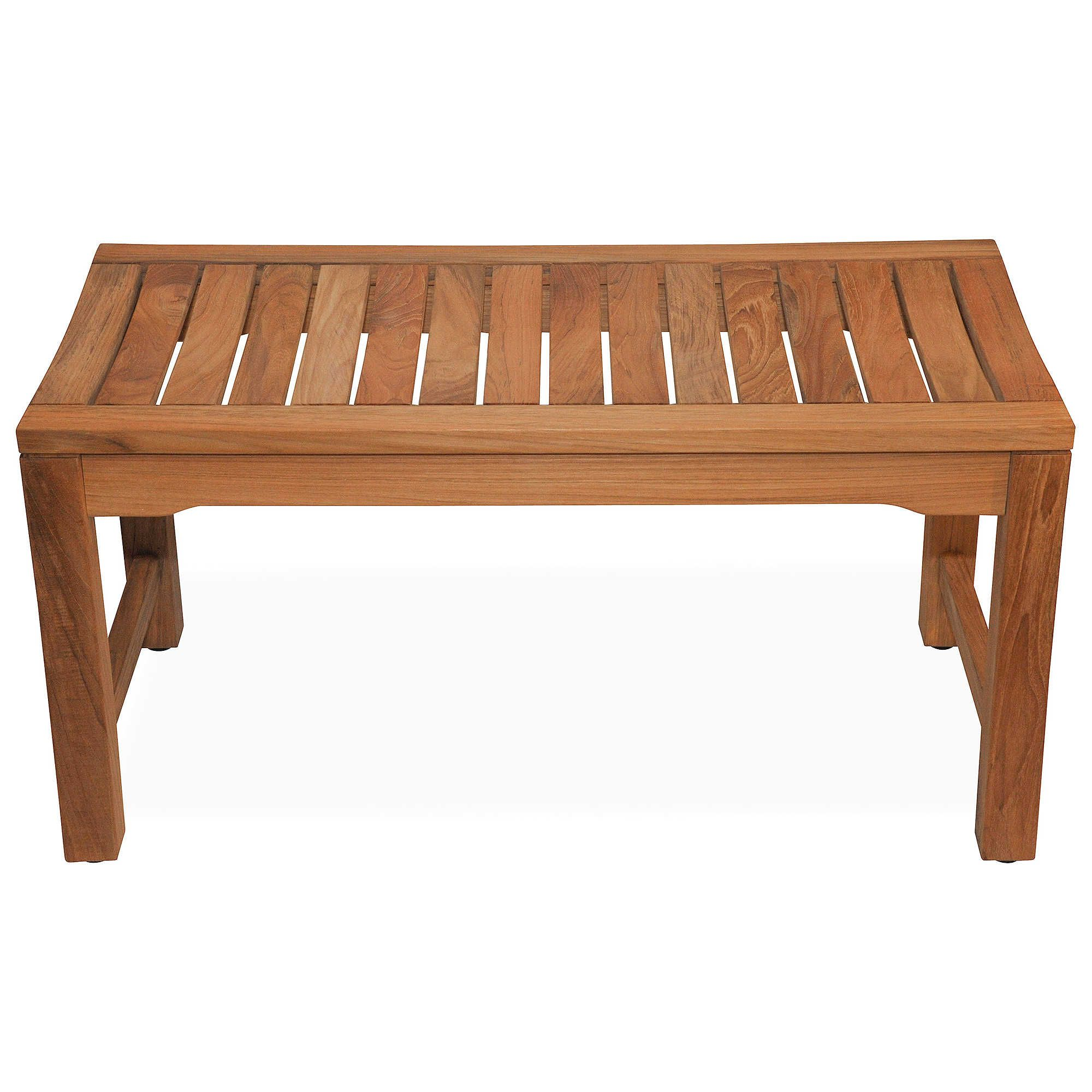Corner Shower Bench Benches Seat Double Wood