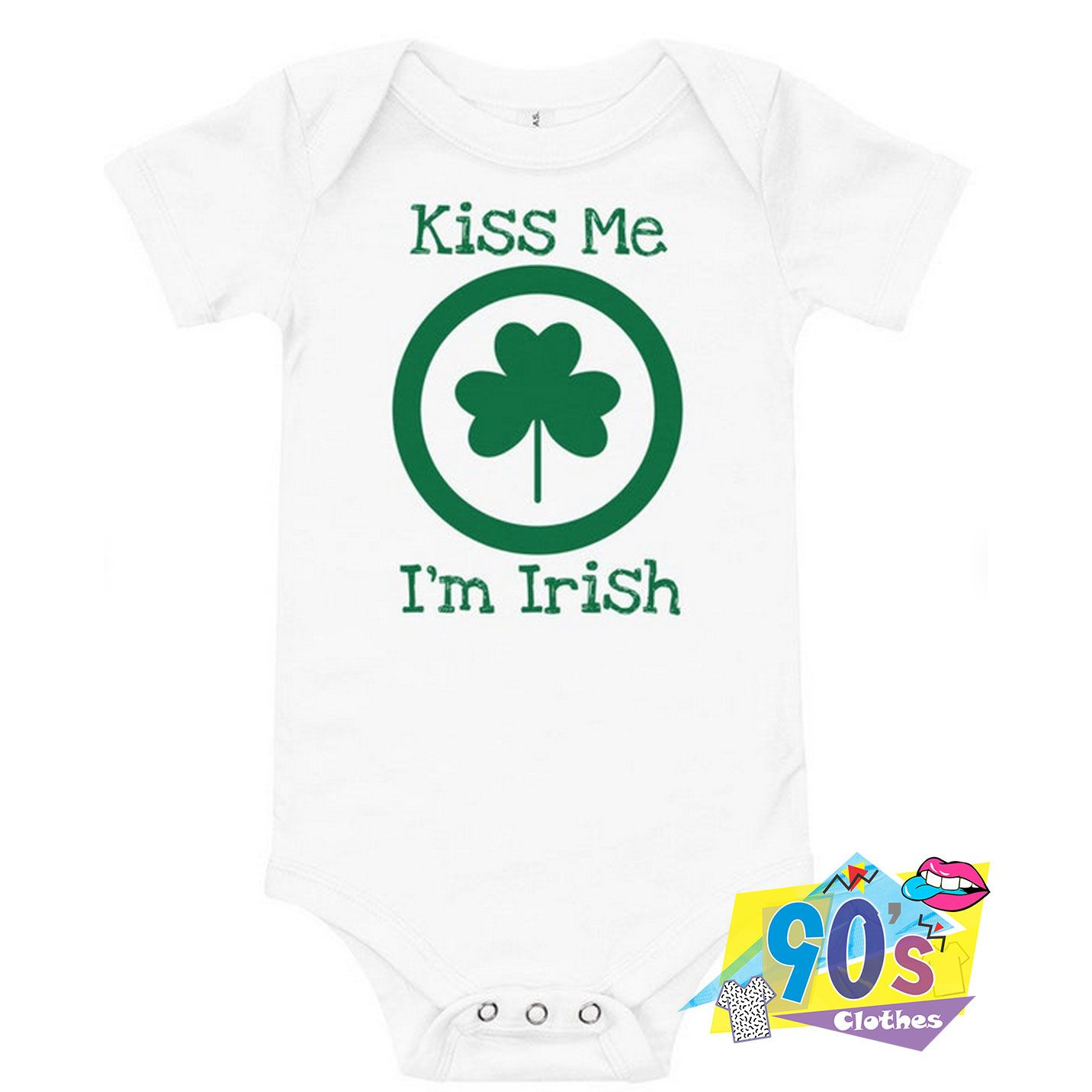 Kiss Me I'm Irish Cute Baby Onesie, Baby Clothes