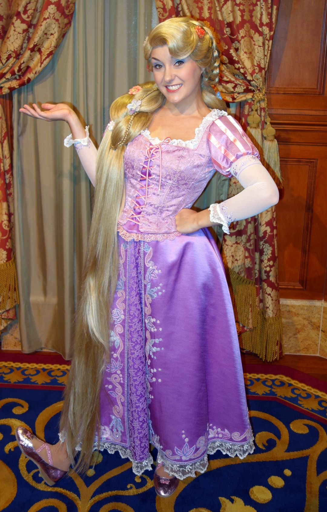 Forced to wear dresses at disneyland stories - Rapunzel At Princess Fairytale Hall In The Magic Kingdom At Disney World