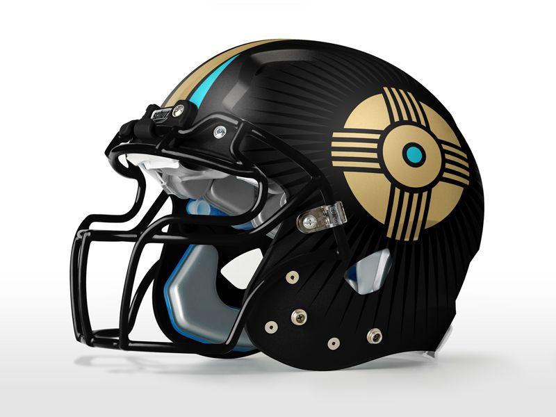 Denver gold home helmet helmet american football