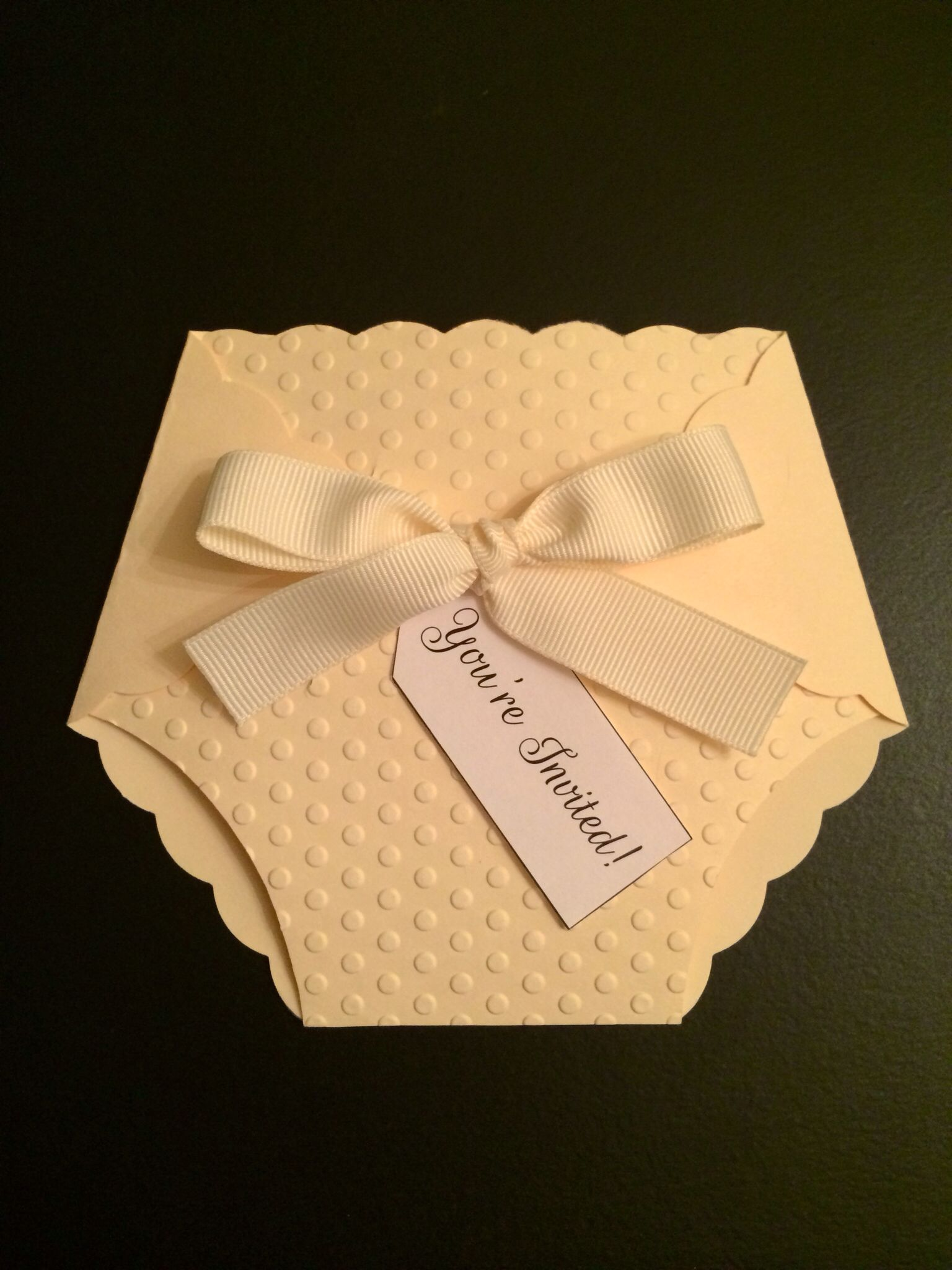diy baby shower diaper invite