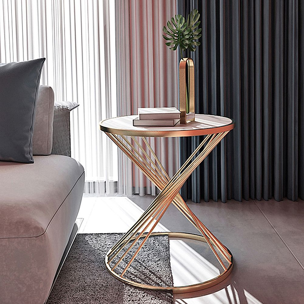 Modern Black End Table With Marble Top Side Table In 2021 Living Room Side Table Small Coffee Table Contemporary End Tables