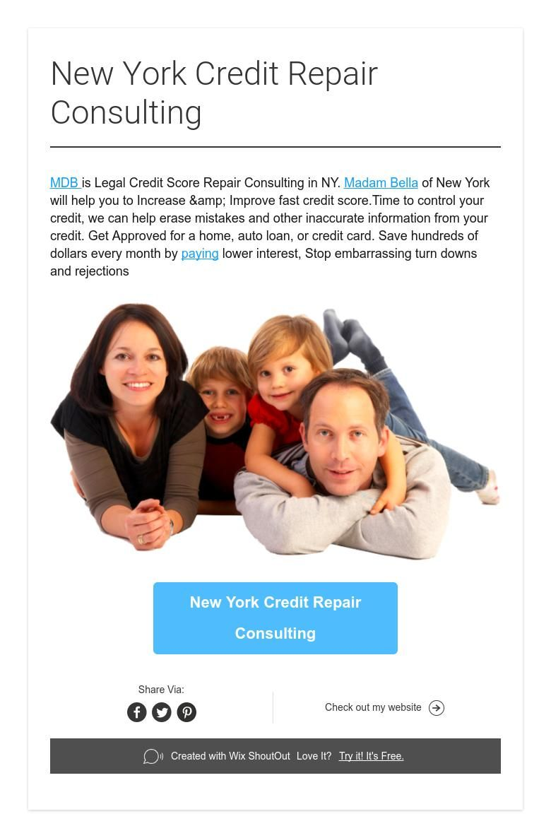 New York Credit Repair Consulting (With images) Credit