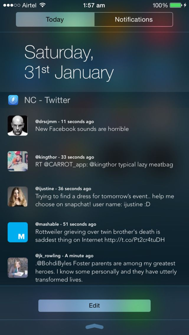 SAVE $1.99: NC - Twitter Widget for Notification Center gone Free in the Apple App Store. #iOS #iPhone #iPad  #Mac #Apple