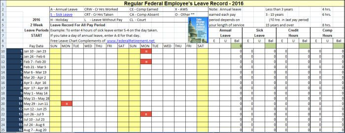 7 Employee Annual Leave Record Sheet Templates Templates