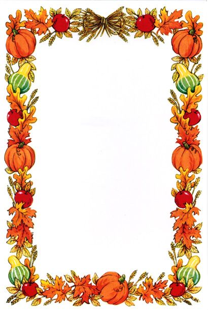 Gallery For > Pumpkin Page Border Clip art borders, Fall