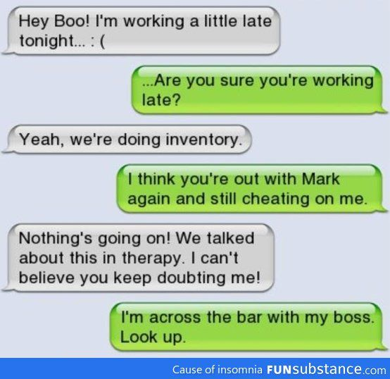 cheating text messages fails