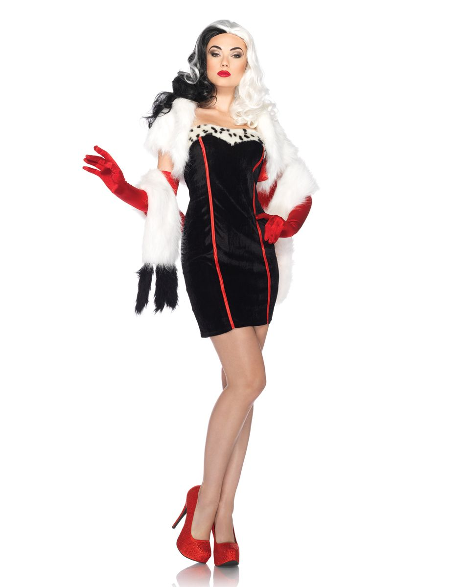 disney cruella de vil adult costume spirit halloween. Black Bedroom Furniture Sets. Home Design Ideas