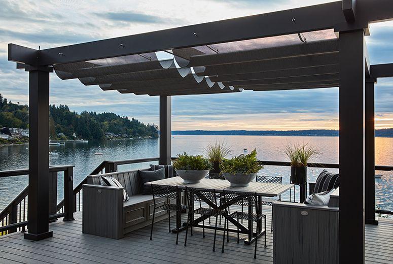 Hgtv Dream Home In Gig Harbor Feat Trex Pergola Vision Pergola