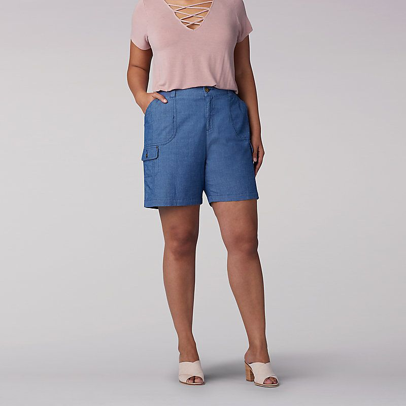 Flex To Go Relaxed Fit Cargo Walk Short Plus Plus Size Women