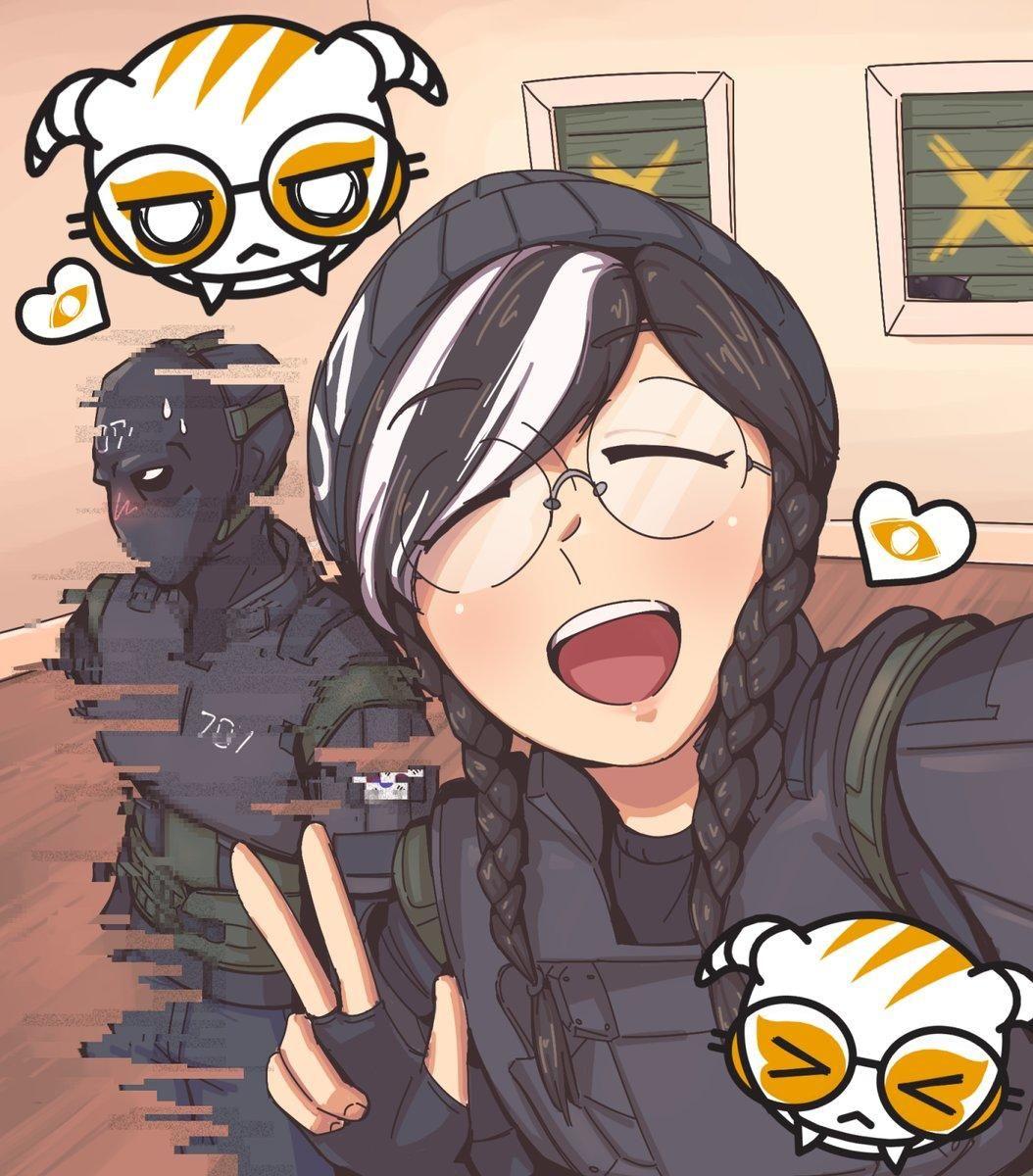 Dokkaebi And Vigil Take A Selfie Rainbow Six Siege Anime Anime