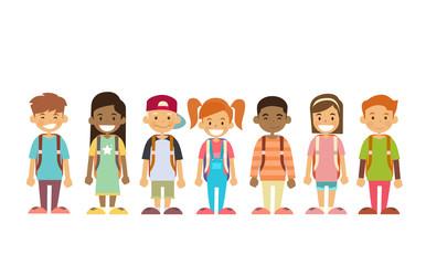 Children Flat Vector Stockfotos Og Afgiftsfri Billeder Vektorer Og Illustrationer Adobe Stock Vektor Illustration Billeder