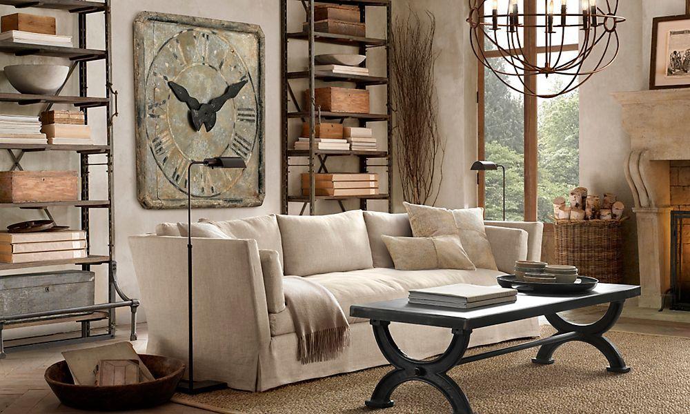 Restoration Hardware Living Room, Restoration Hardware Inspired Furniture
