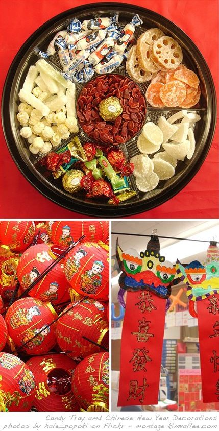 Chinese New Year Decorations and Party Menu At Home with