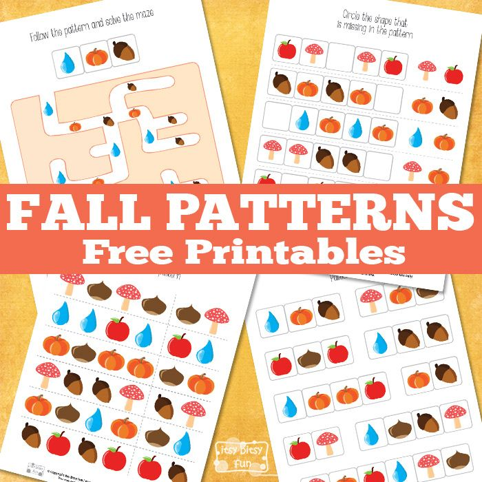 Printable Worksheets pattern recognition worksheets : Pattern Recognition Fall Printables | Fall patterns, Worksheets ...