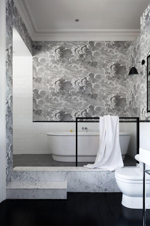 Pinspiration: statement badkamers | Wallpaper, Room and Powder room