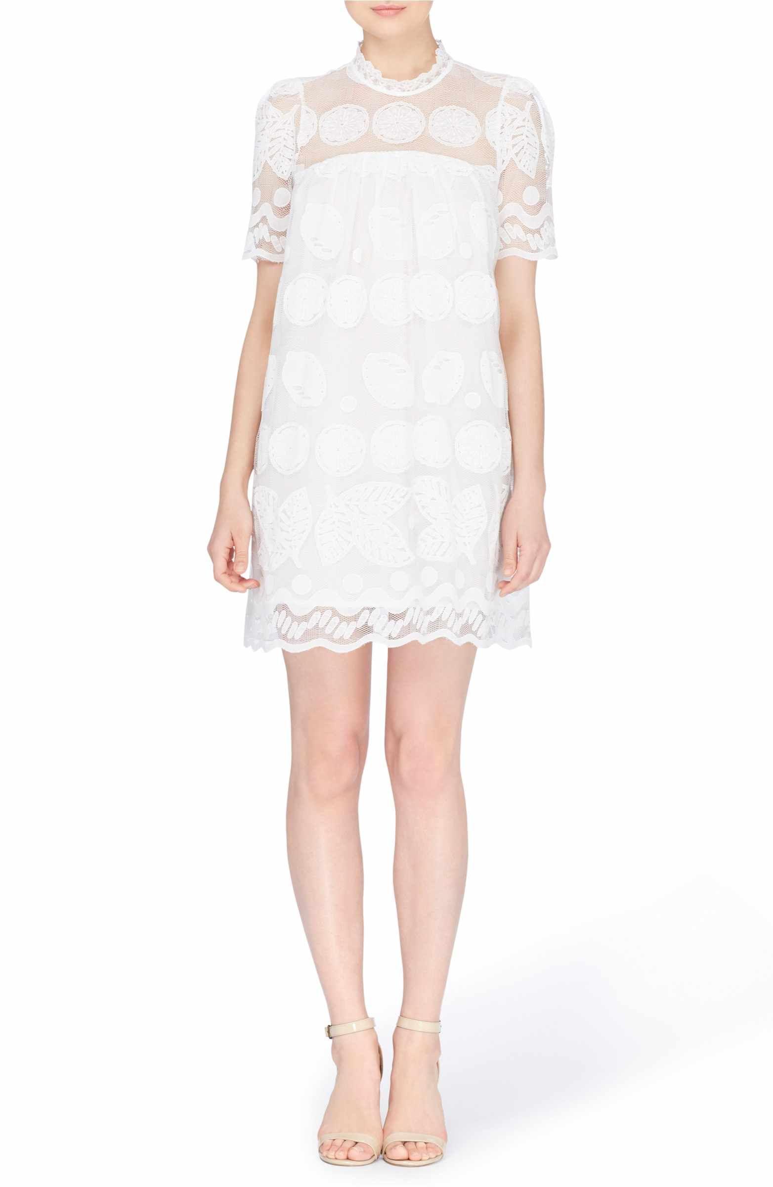 653374dda22 Main Image - Catherine Catherine Malandrino Mona Embroidered Lace Shift  Dress