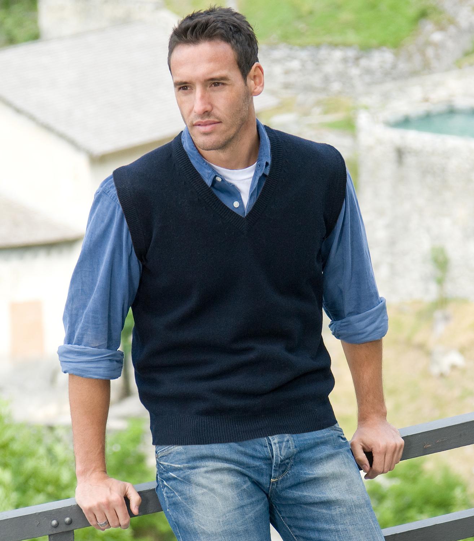 Lambswool Slipover Vest for Men & Women. Get thrilling discounts ...