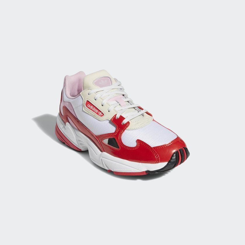 pink \u0026 red adidas falcon   Shoes, Pink