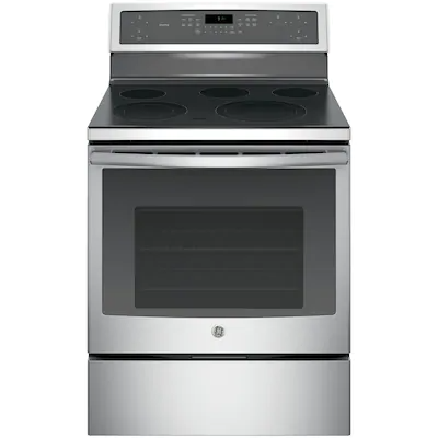 Ge Profile 30 In Smooth Surface 5 Elements 5 3 Cu Ft Self Cleaning Convection Oven Freestanding Electric Range Stainless Steel Lowes Com Freestanding Electric Ranges Electric Range Convection Range