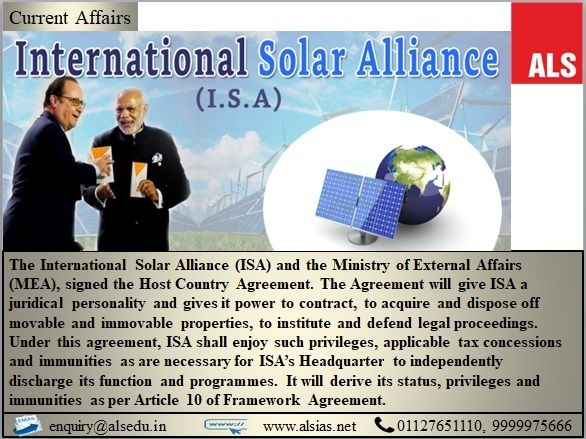 Isa And India Sign Host Country Agreement Als Ias Alsias